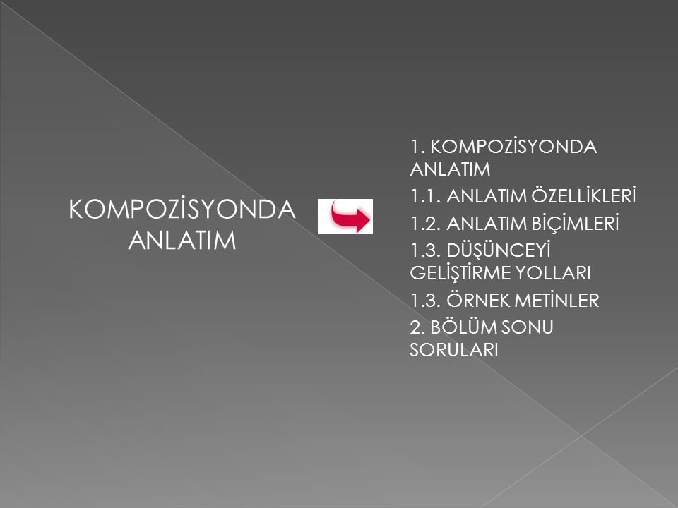 KOMPOZİSYONDA ANLATIM 1.KOMPOZİSYONDA ANLATIM 1.1.