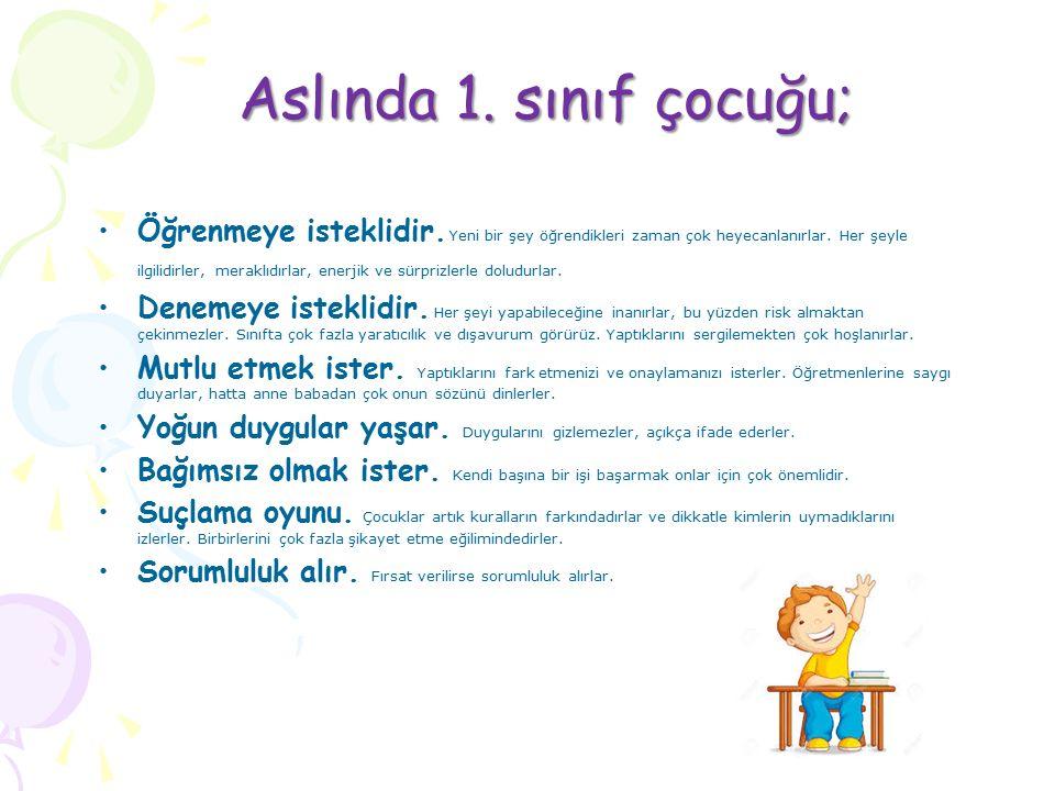 1.Sınıf çocuğunun gelişim özellikleri ocuklar 4 alanda büyürler.