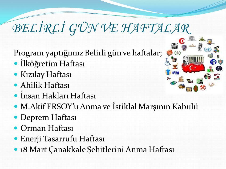Tüketiciyi Koruma Haftası Nevruz Haftası Tutum Yatırım ve Türk Malları Haftası BELİRLİ GÜN VE HAFTALAR