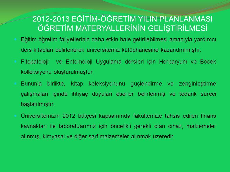 2012-2013 EĞİTİM-ÖĞRETİM YILIN PLANLANMASI ÖĞRETİM MATERYALLERİNİN GELİŞTİRİLMESİ Eğitim öğretim faliyetlerinin daha etkin hale getirilebilmesi amacıy