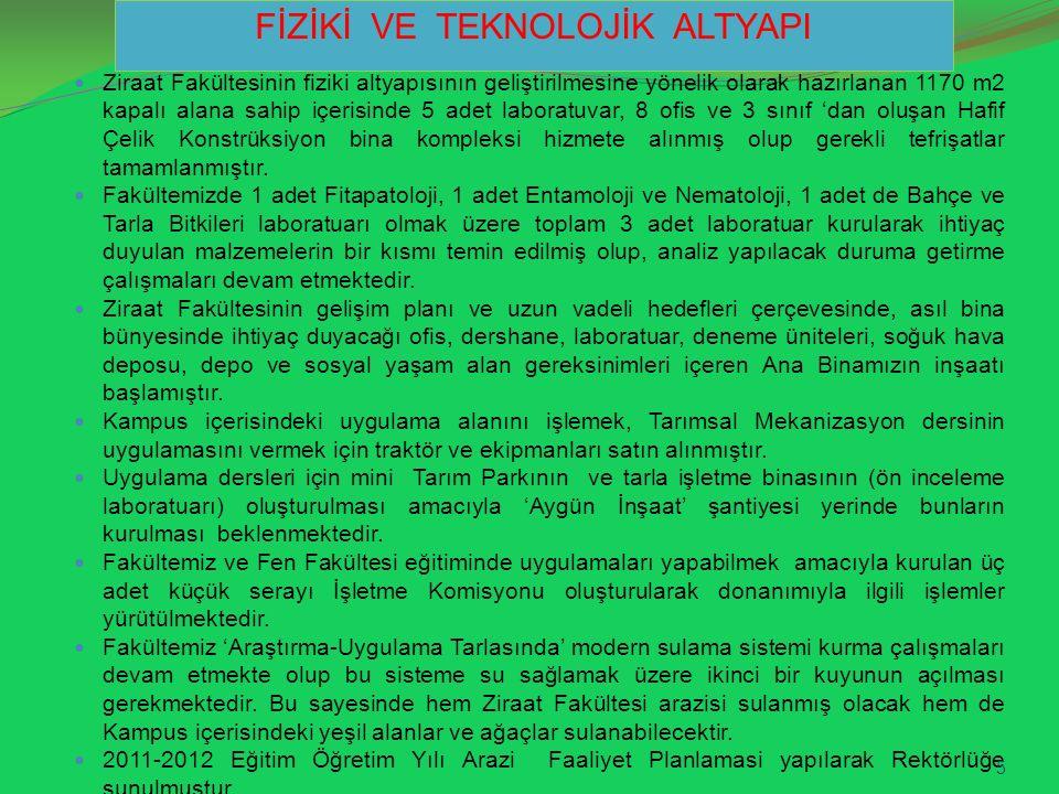 31 Mayıs 2012 tarihinde Prof.Dr. Tinatin DÖÖLÖTKELDİYA'nın önerisiyle 'Bitki Koruma' konulu I.