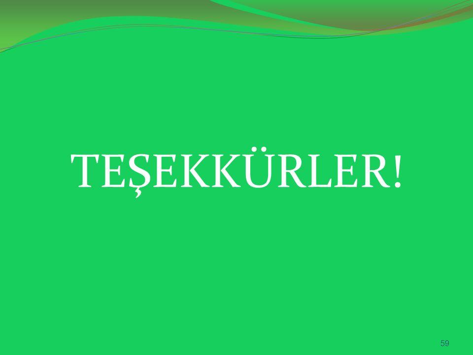 TEŞEKKÜRLER! 59