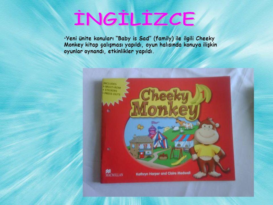 Yeni ünite konuları Baby is Sad (family) ile ilgili Cheeky Monkey kitap çalışması yapıldı, oyun halısında konuya ilişkin oyunlar oynandı, etkinlikler yapıldı.