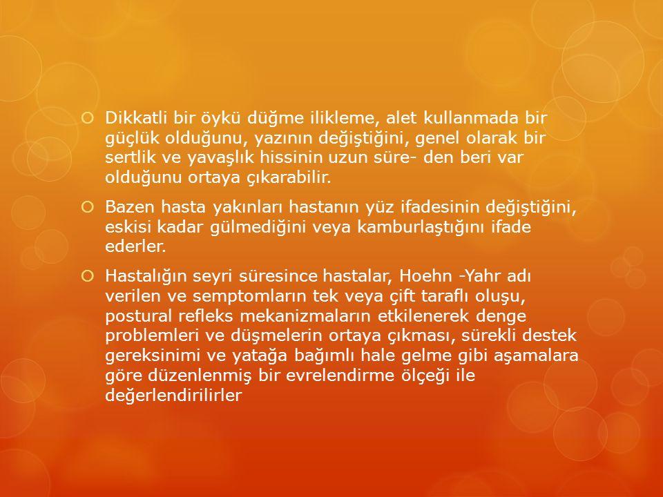 KARDİNAL BELİRTİLER  Tremor  Rijidite  Akinezi/Bradikinezi  Postüral İnstabilite