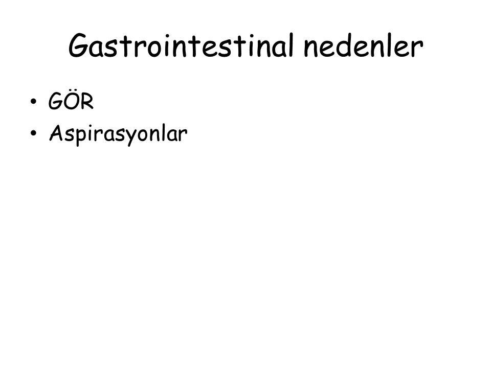 Gastrointestinal nedenler GÖR Aspirasyonlar
