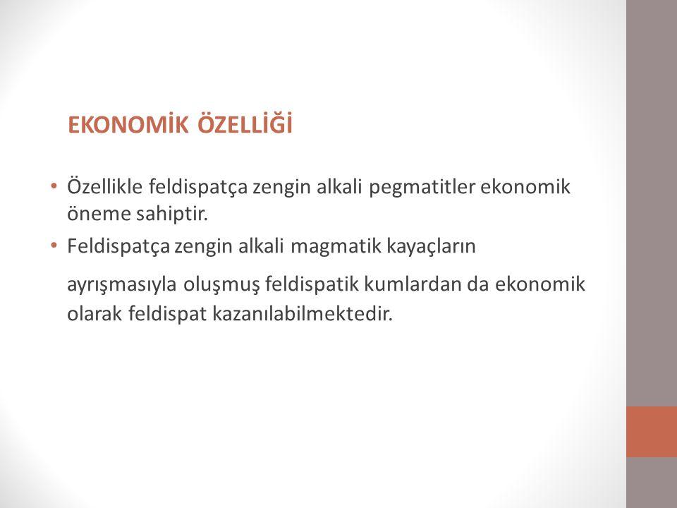 KULLANIM ALANLARI Feldispatların ana kullanım alanı cam ve seramik endüstrileridir.