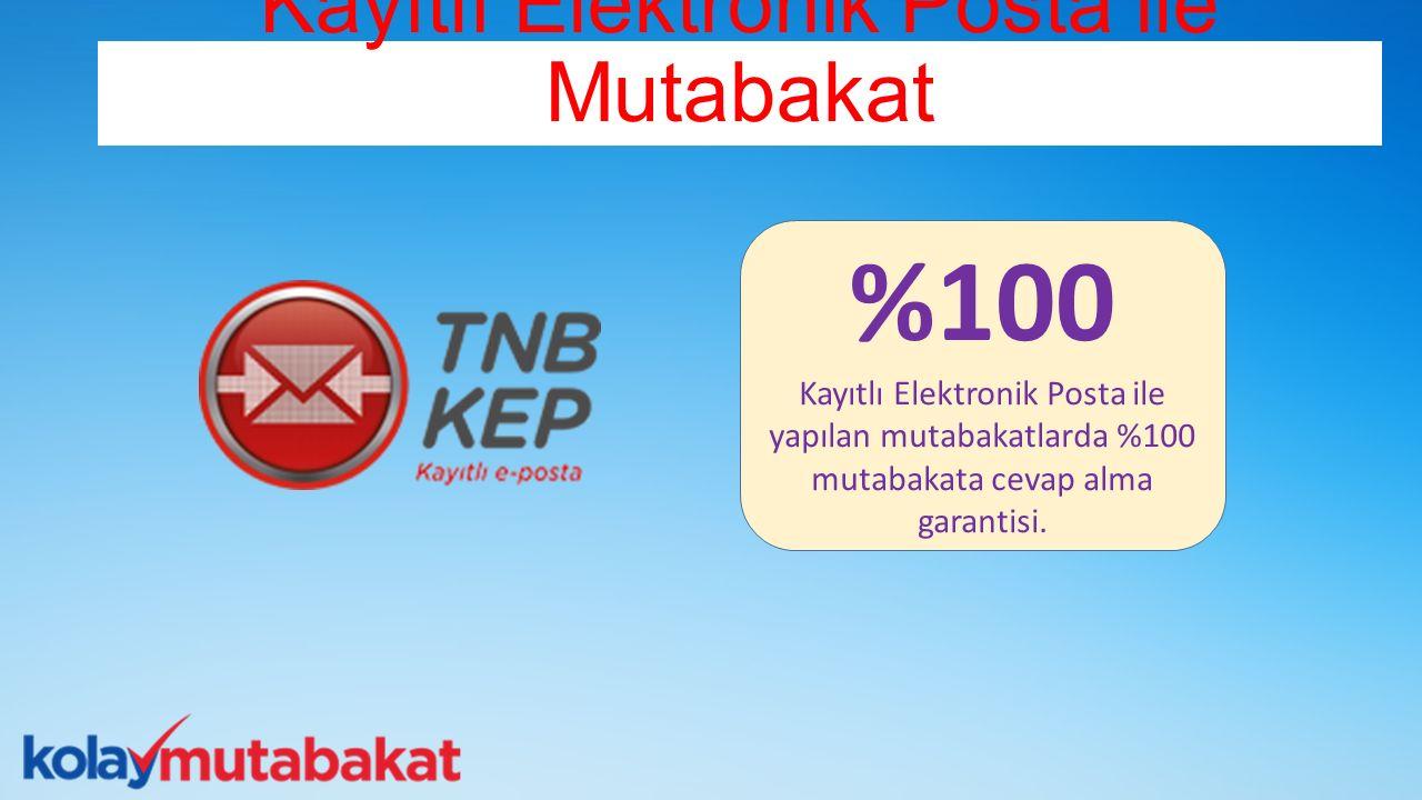 Kayıtlı Elektronik Posta ile Mutabakat %100 Kayıtlı Elektronik Posta ile yapılan mutabakatlarda %100 mutabakata cevap alma garantisi.