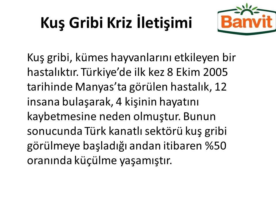 Kuş Gribi Kriz İletişimi Kuş gribi, kümes hayvanlarını etkileyen bir hastalıktır. Türkiye'de ilk kez 8 Ekim 2005 tarihinde Manyas'ta görülen hastalık,