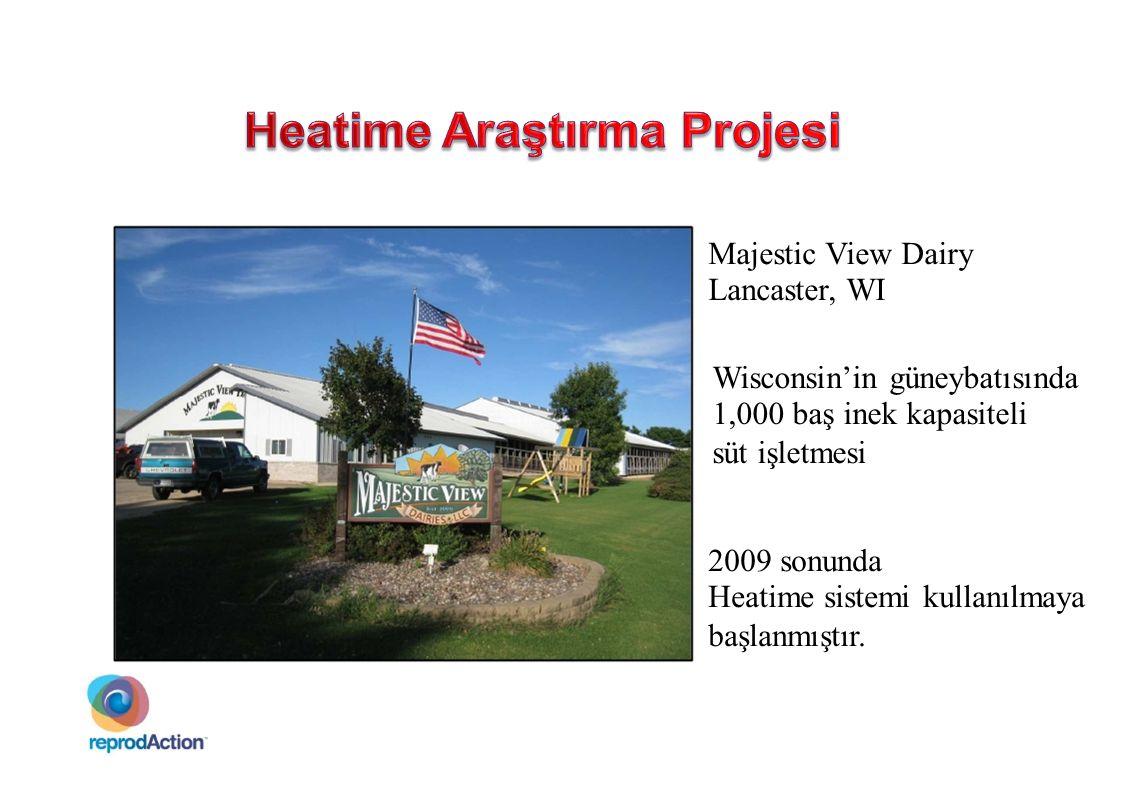 Majestic View Dairy Lancaster, WI Wisconsin'in güneybatısında 1,000 baş inek kapasiteli süt işletmesi 2009 sonunda Heatime sistemi kullanılmaya başlan