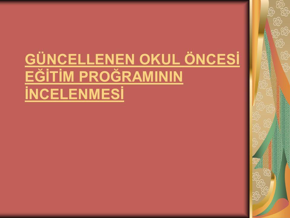 OKUL ÖNCESİ EĞİTİMİNİN AMAÇLARI Okul öncesi eğitiminin amaç ve görevleri, millî eğitimin genel amaçlarına ve temel ilkelerine uygun olarak;Çocukların beden, zihin ve duygu gelişimini ve iyi alışkanlıklar kazanmasını sağlamak,Onları ilkokula hazırlamak,Şartları elverişsiz çevrelerden ve ailelerden gelen çocuklar için ortak bir yetiştirme ortamı yaratmak, Çocukların Türkçeyi doğru ve güzel konuşmalarını sağlamaktır.