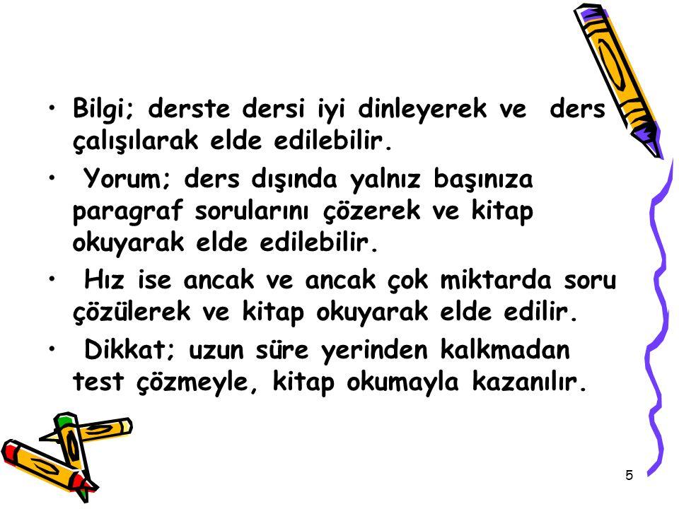 46 TEST TEKNİĞİ NASIL KAZANILIR ?