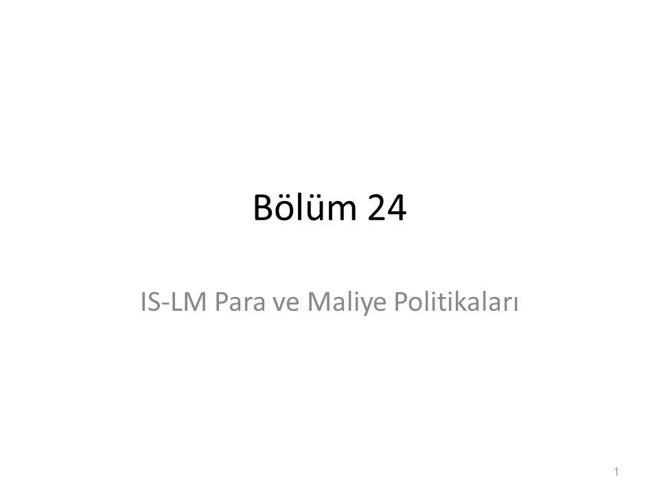 Bölüm 24 IS-LM Para ve Maliye Politikaları 1