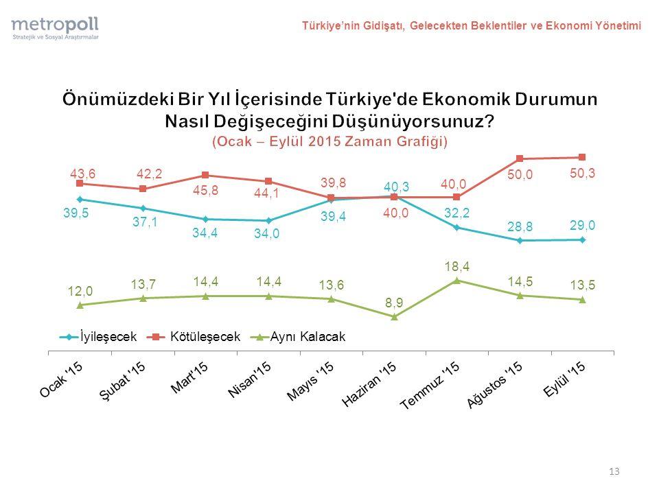13 Türkiye'nin Gidişatı, Gelecekten Beklentiler ve Ekonomi Yönetimi