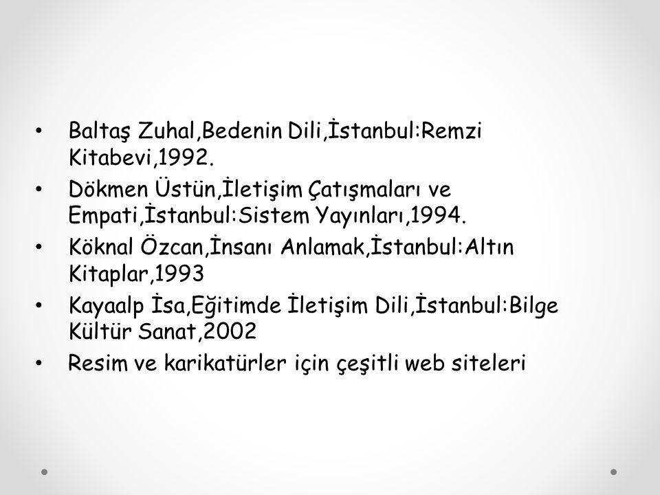 KAYNAKÇA Cüceloğlu Doğan,Yeniden İnsan İnsana,İstanbul:Remzi Kitabevi,1995.