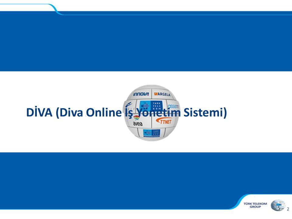 , 2 DİVA (Diva Online İş Yönetim Sistemi)