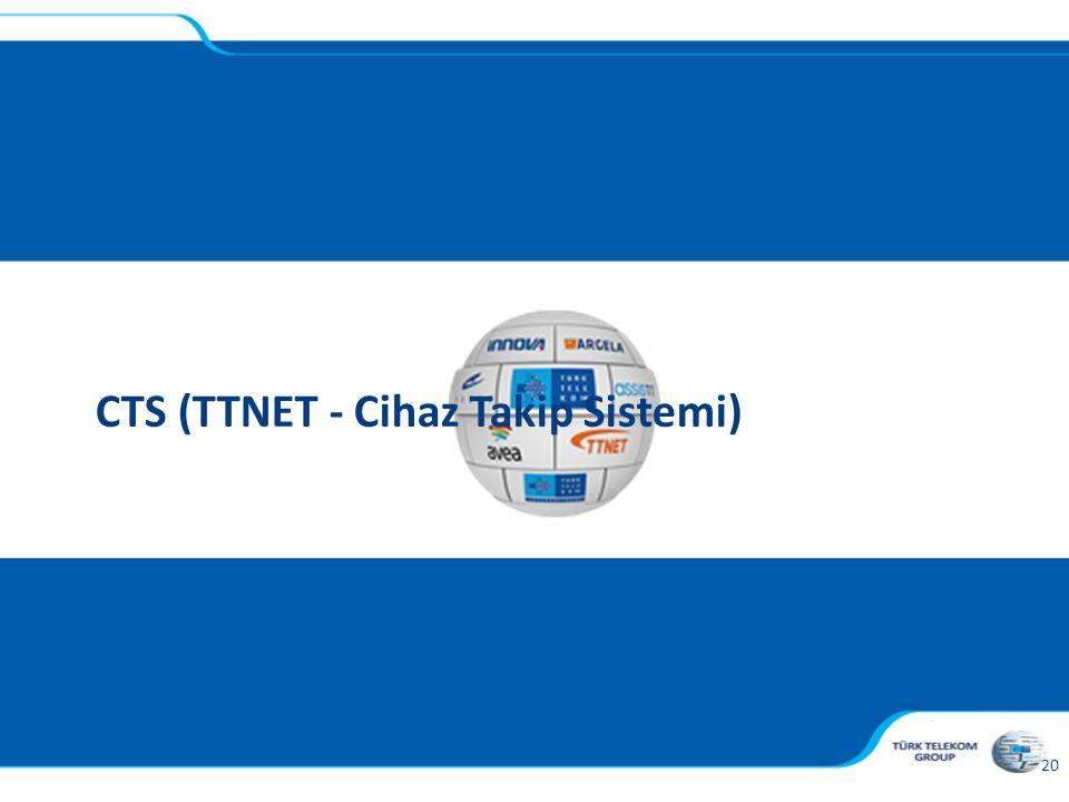, 20 CTS (TTNET - Cihaz Takip Sistemi)