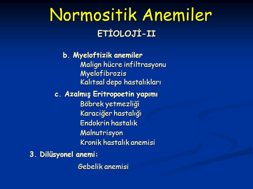 b. Myeloftizik anemiler b.