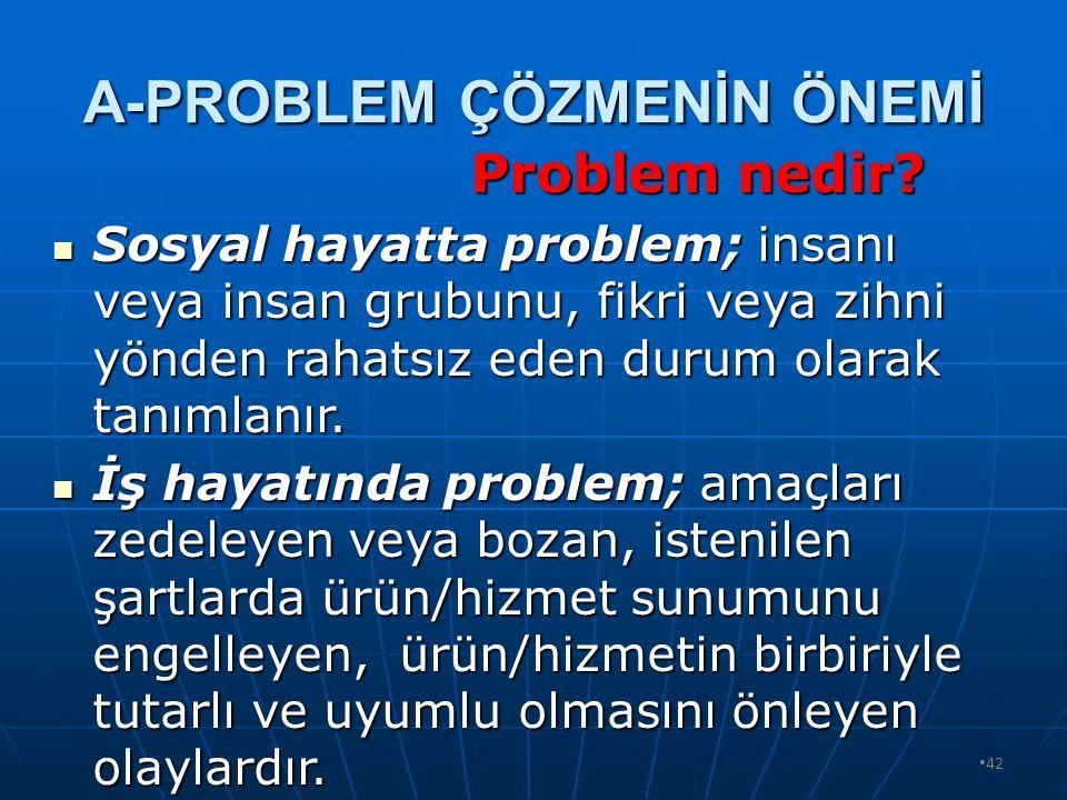41 PROBLEM ÇÖZME