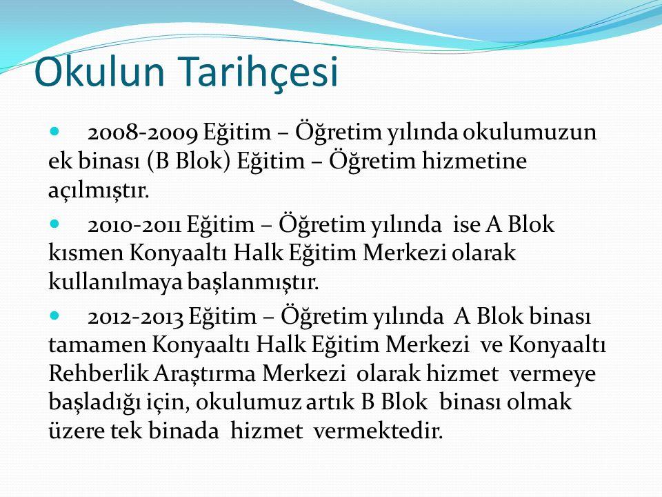 Okulun Misyonu Atatürk ilke ve inkılâpları ışığında; insani değerlerin üstünlüğüne inanan, araştıran, sorgulayan, yaratıcı, hoşgörü sahibi, adil, gelişime açık ve sorumlu bireyler yetiştiren, ben değil biz duygusuyla hareket eden bir kurumuz.