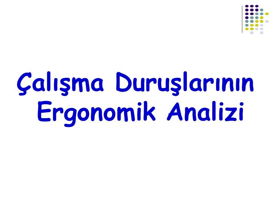 Çalışma Duruşlarının Ergonomik Analizi