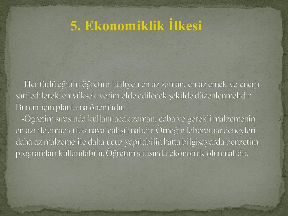 5. Ekonomiklik İlkesi