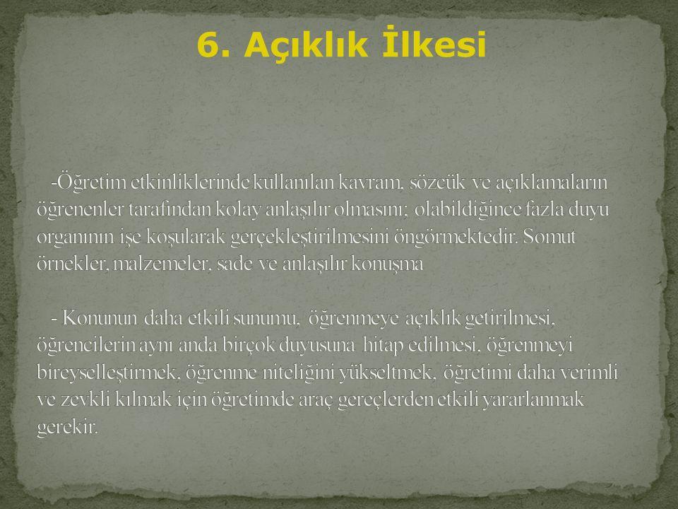 6. Açıklık İlkesi
