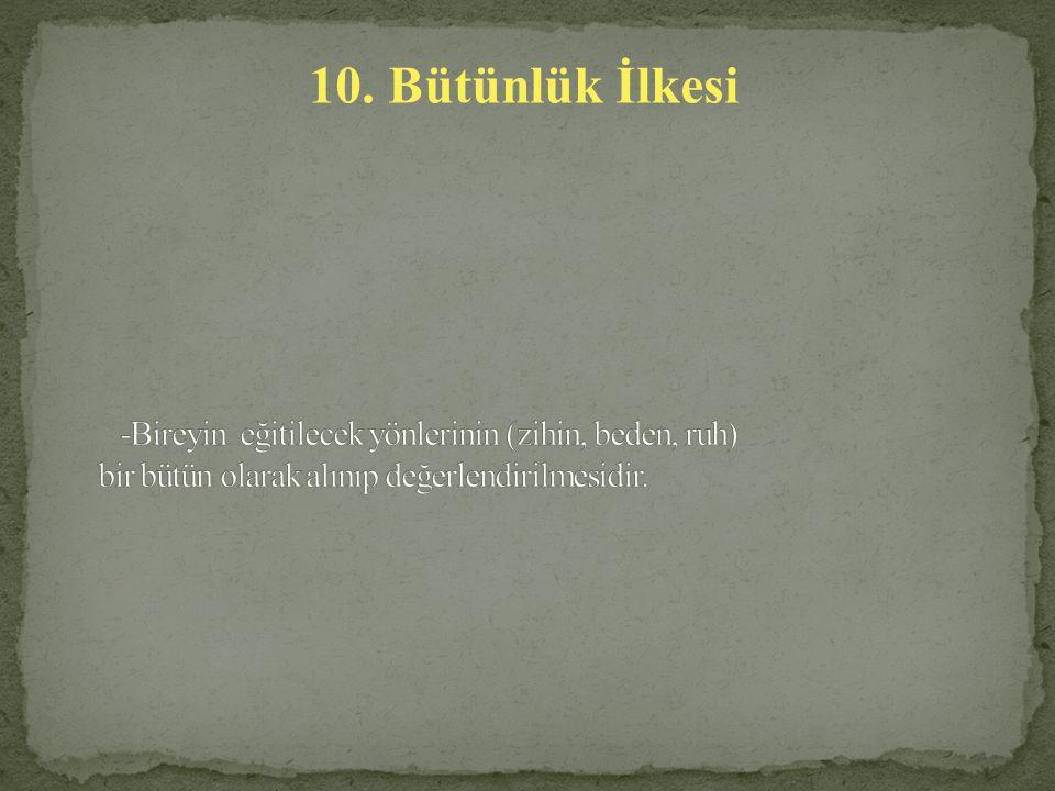 10. Bütünlük İlkesi