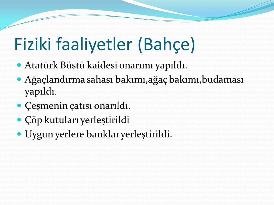 Fiziki faaliyetler (Bahçe) Atatürk Büstü kaidesi onarımı yapıldı.