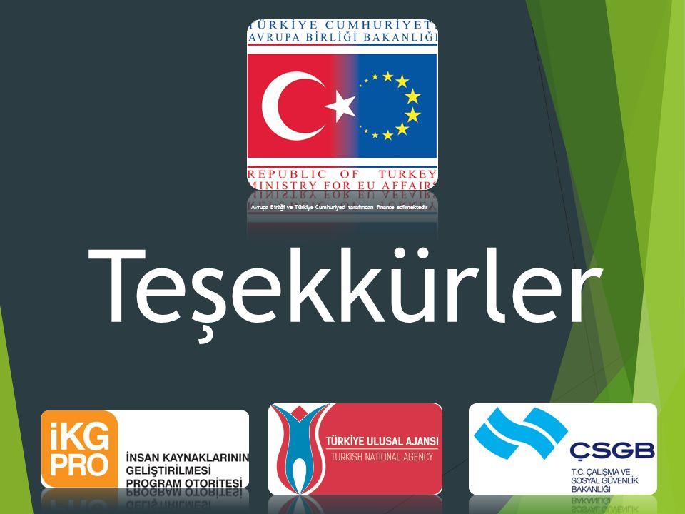 Teşekkürler Avrupa Birliği ve Türkiye Cumhuriyeti tarafından finanse edilmektedir