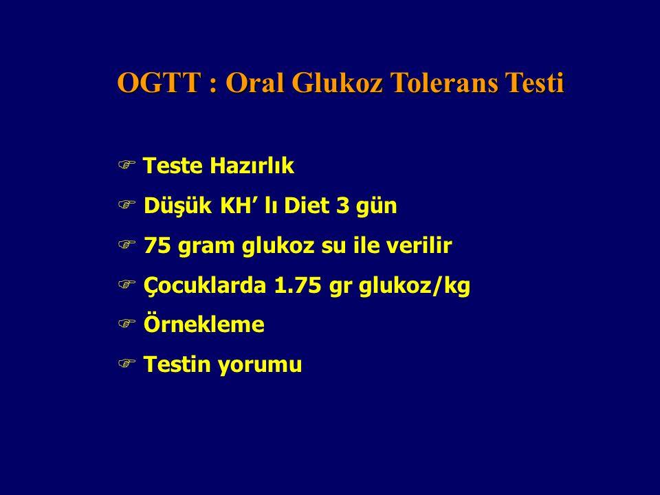 Nondiabetiklerde Glukozuri :  Laktozüri  Fruktoz, galaktoz, pentoz  Ketonürinin ( Acetes tab, Ketostix, Ketodiastix )  Proteinürinin  Mikroalbümünirinin ( Normal Birey < 15 ug/dl )