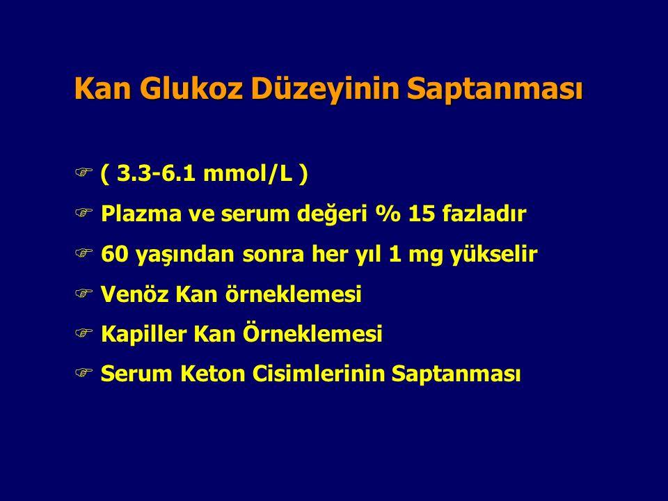 Ayırıcı Tanı: 1. Nondiabetik glukozüriler  Fankoni send.  Proksimal tübül disfonksiyonu  Kr. Renal yetmezlik  Familial bening renal tub hastalığı