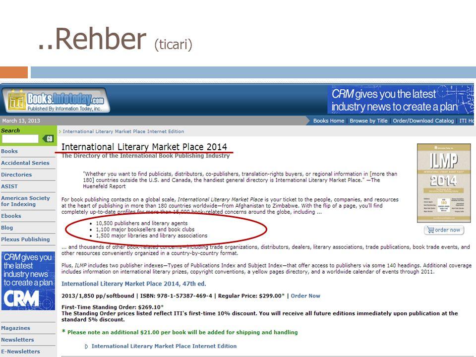 ..Rehber (ticari)
