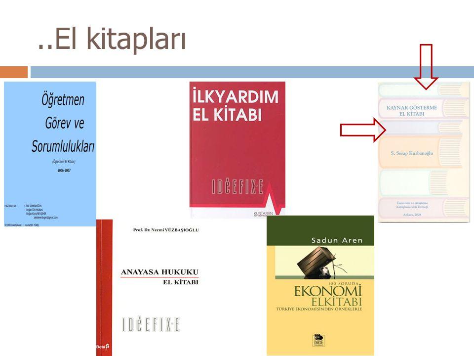 ..El kitapları