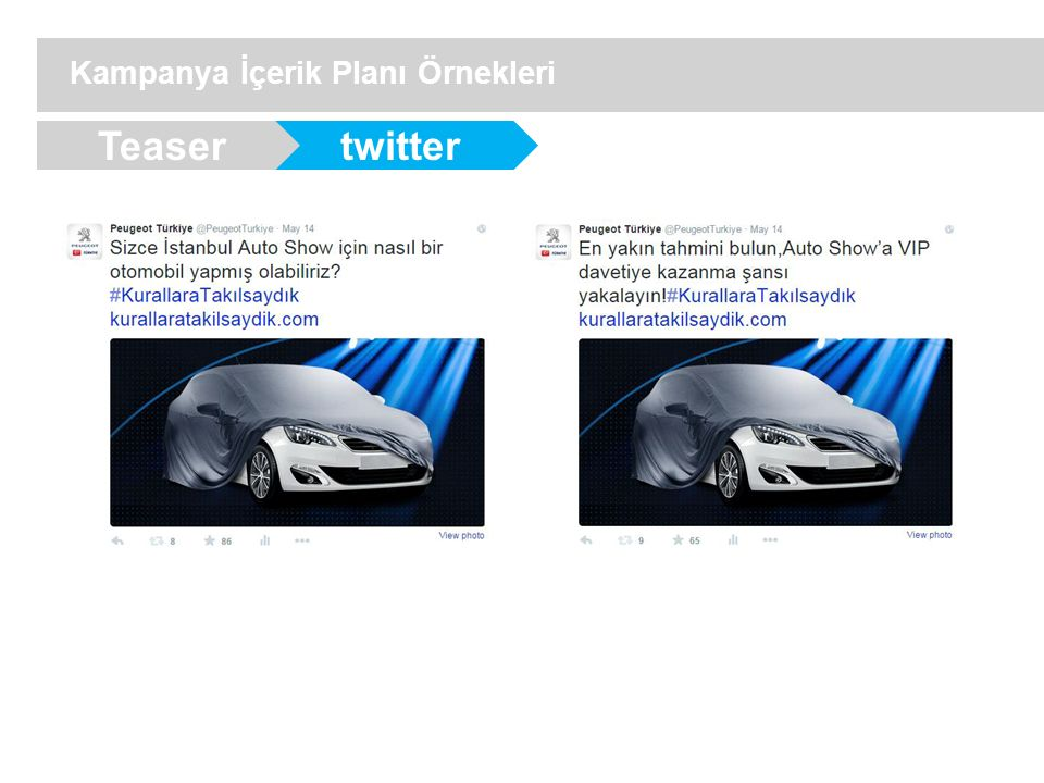 twitter Kampanya İçerik Planı Örnekleri Teaser