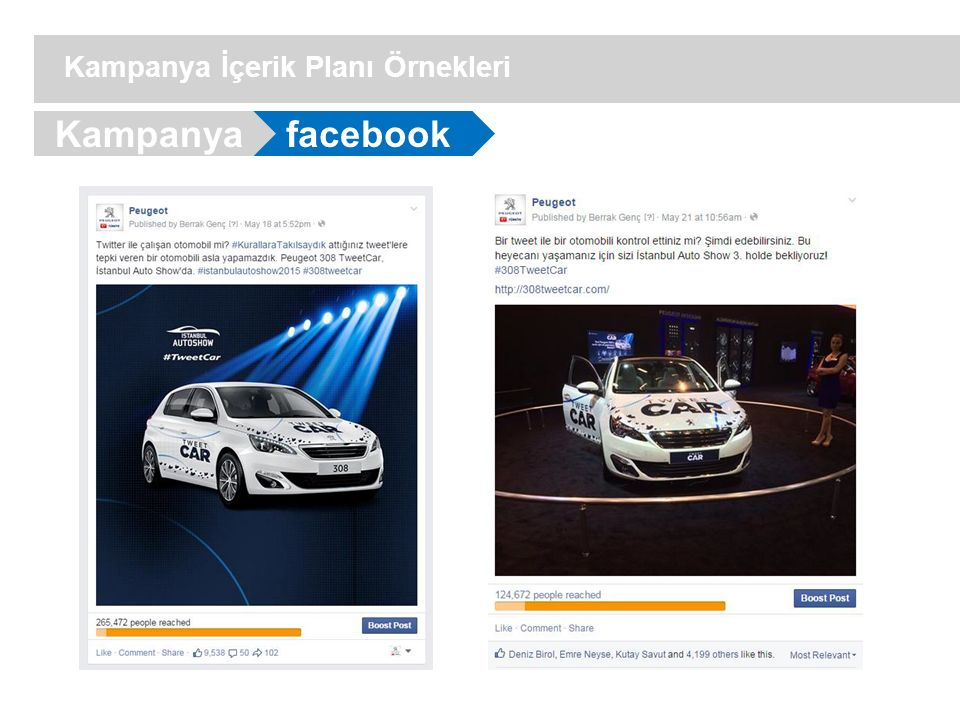 facebook Kampanya İçerik Planı Örnekleri Kampanya