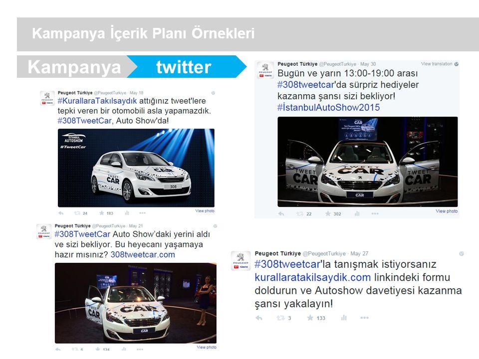 twitter Kampanya İçerik Planı Örnekleri Kampanya