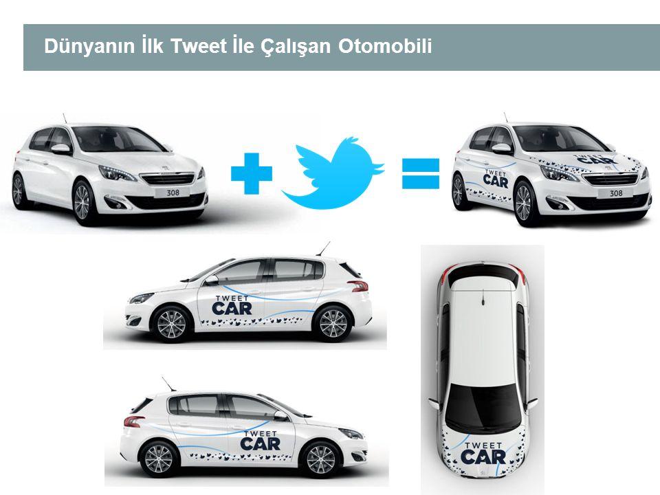 Dünyanın İlk Tweet İle Çalışan Otomobili