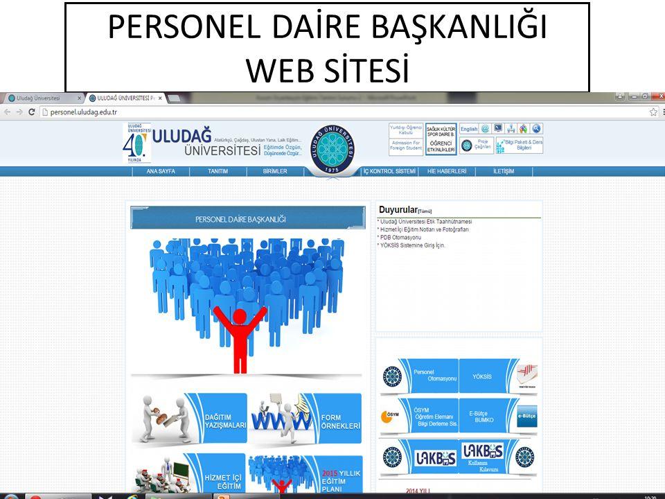 PERSONEL DAİRE BAŞKANLIĞI WEB SİTESİ