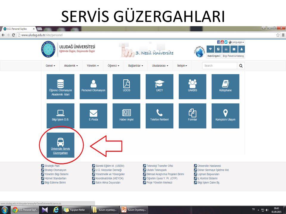 SERVİS GÜZERGAHLARI