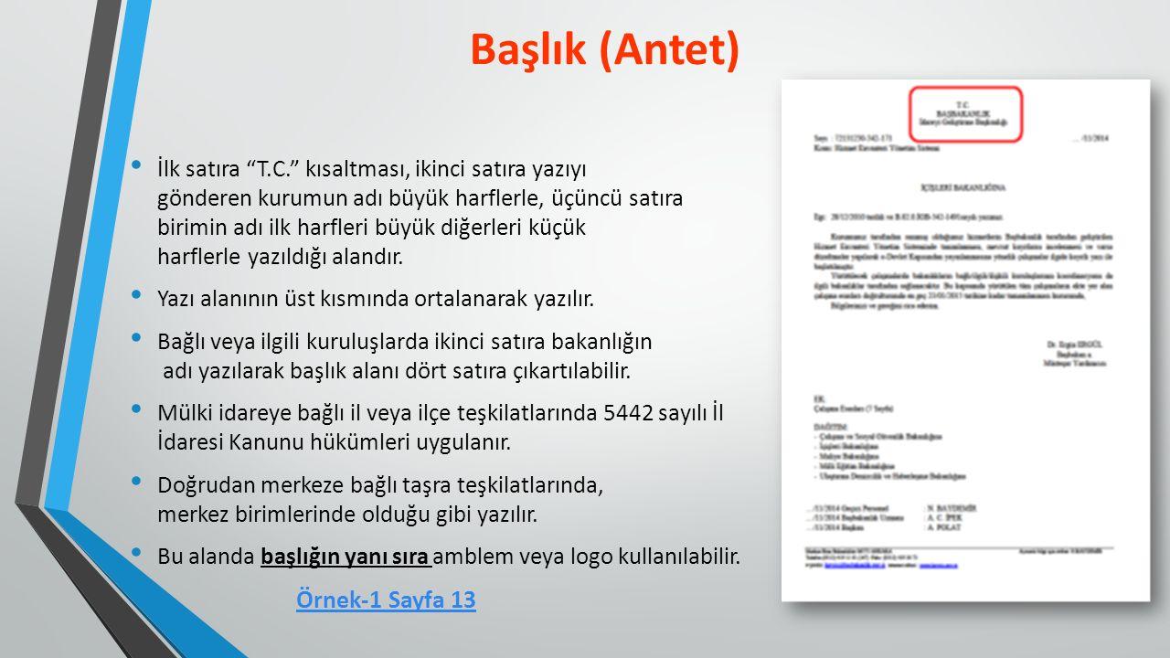 İlgi, belgenin bağlantılı olduğu diğer belge ya da belgelerin belirtildiği bölümdür.