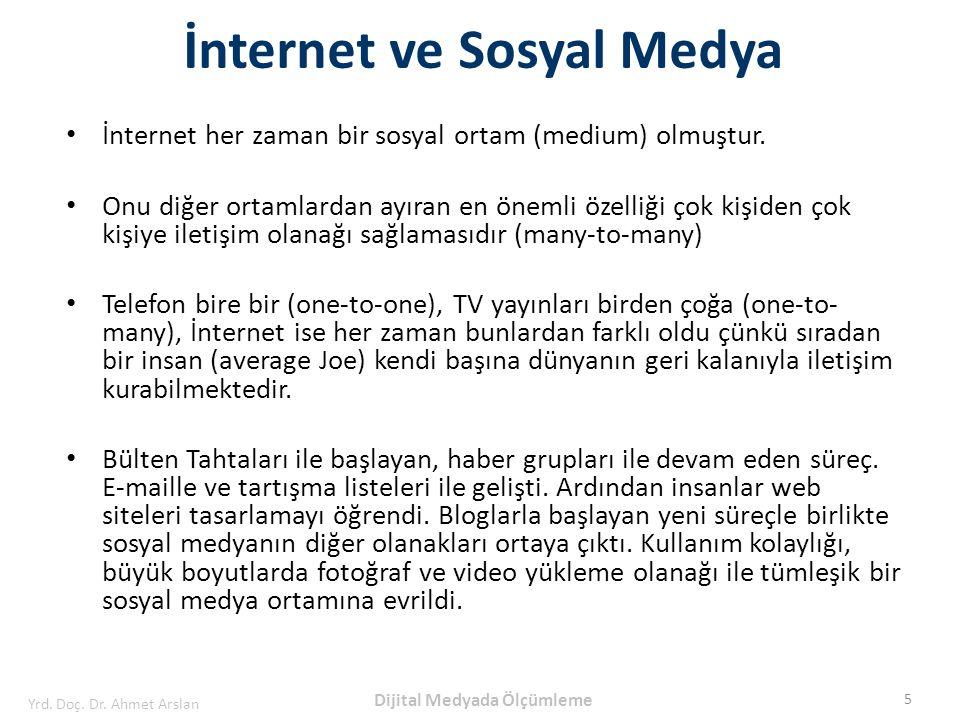 İnternet her zaman bir sosyal ortam (medium) olmuştur. Onu diğer ortamlardan ayıran en önemli özelliği çok kişiden çok kişiye iletişim olanağı sağlama