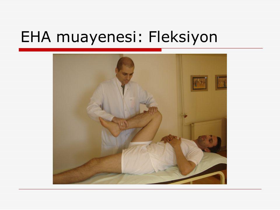 EHA muayenesi: Fleksiyon