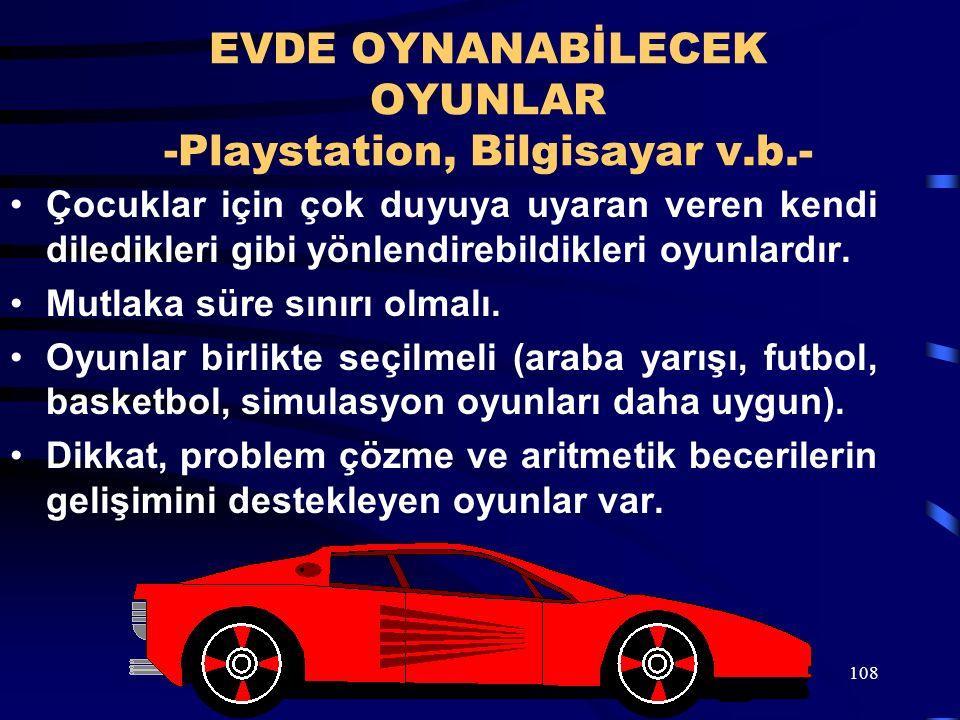 108 EVDE OYNANABİLECEK OYUNLAR -Playstation, Bilgisayar v.b.- Çocuklar için çok duyuya uyaran veren kendi diledikleri gibi yönlendirebildikleri oyunla