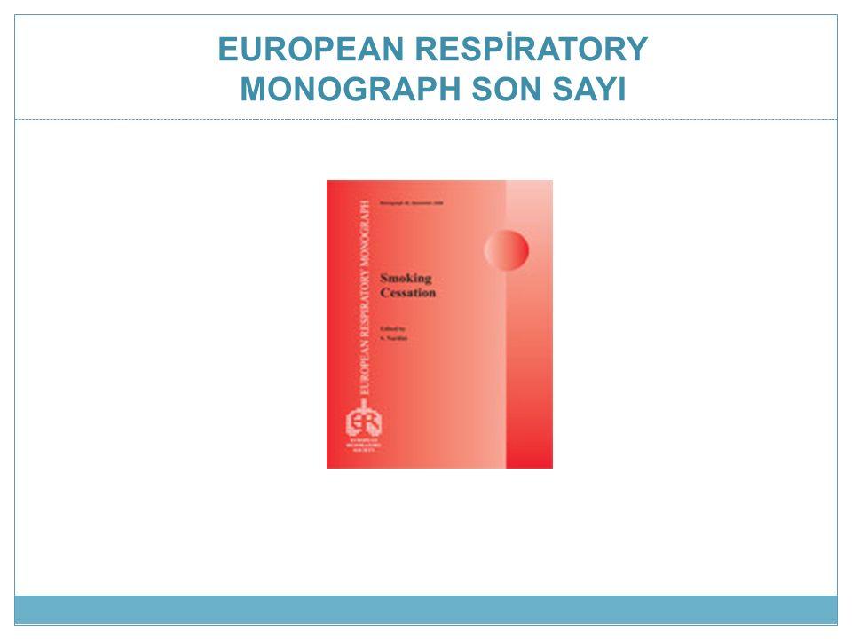 EUROPEAN RESPİRATORY MONOGRAPH SON SAYI