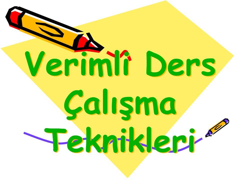 Verimli Ders Çalışma Teknikleri
