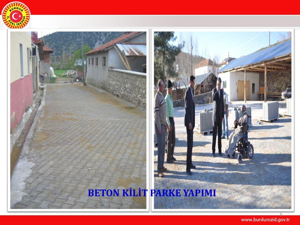 9 İÇMESUYU PROJELERİ (25 Adet) Merkez Kökez Köyü Şebeke ve Depo Tamiratıİ.Aşamasında Merkez Hacılar Köyü 2 km.İsale hattı İnşaatıİ.Aşamasında Merkez Karaçal, Yazıköy-Yarıköy köyleri 4 km isale ve terfi hattı İnş.D.Ediyor Merkeze bağlı 20 köyün Depo TamiriD.Ediyor Bucak Kuyubaşı İsale hatt yenileme işiD.Ediyor Bucak Uğurlu Grubu ilave sondaj yapım işiD.Ediyor Bucak Elsazı Köyü Yenice Mahallesi Şebeke yenileme işiD.Ediyor Bucak Alkaya Köyü şebeke yenileme işiD.Ediyor Bucak Seydiköy Köyü Şebeke yenileme işiD.Ediyor Bucak Belören Köyü içmesuyu kaynak temini ve sondaj etüdü işiD.Ediyor Çavdır Ambarcık Köyü Şebeke Değiştirme işiD.Ediyor Çavdır İshak Köyü Yeni isale hattı ve Enerji Nakil Hattı yapımı işiD.Ediyor Gölhisar Asmalı Köyü Şebeke Yenileme işiD.Ediyor Yeşilova Gökçeyaka Köyü Depo Tamiratı işiD.Ediyor Yeşilova Aş.Kırlı Köyü Depo Tamiratı işiD.Ediyor Yeşilova Dereköy Köyü Depo Tamiratı işiD.Ediyor Yeşilova Doğanbaba Köyü Depo Tamiratı işiD.Ediyor Yeşilova Kavak Köyü Depo Tamiratı işiD.Ediyor Yeşilova Niyazlar Köyü Depo Tamiratı işiD.Ediyor Yeşilova Bayırbaşı Köyü Depo Tamiratı işiD.Ediyor Yeşilova Alanköy Köyü Depo Tamiratı işiD.Ediyor Yeşilova Çaltepe Köyü Depo Tamiratı işiD.Ediyor Yeşilova Bedirli Köyü Depo Tamiratı işiD.Ediyor Yeşilova Akçaköy Köyü Depo Tamiratı işiD.Ediyor