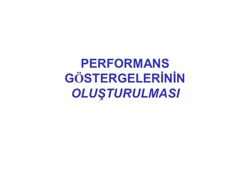 PERFORMANS G Ö STERGELERİNİN OLUŞTURULMASI