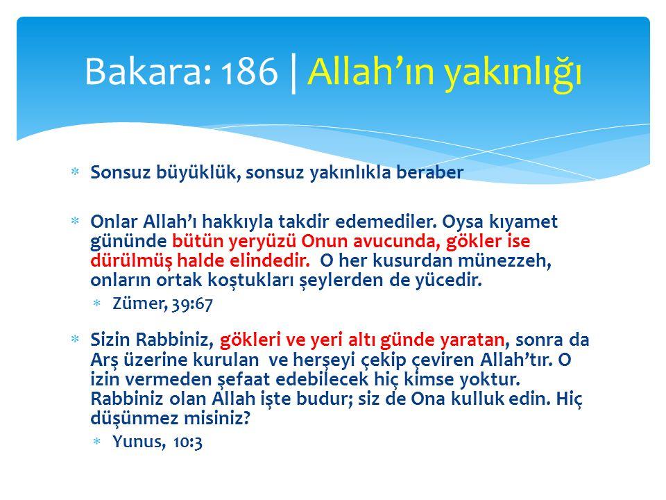  Sonsuz büyüklük, sonsuz yakınlıkla beraber  Onlar Allah'ı hakkıyla takdir edemediler. Oysa kıyamet gününde bütün yeryüzü Onun avucunda, gökler ise
