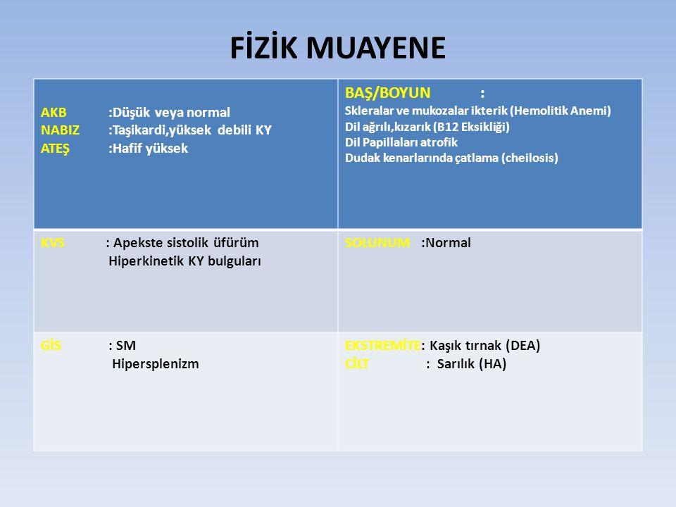 MCV < 70 fl ise neden olarak demir eksikliği anemisi ya da talasemi düşünülmeli Hafif anemi ya da anemisiz MCV < 70 fl olması talasemi taşıyıcılığını gösterir Tek başına KHA de MCV 70 fl nin altına düşmesi beklenmez Mikrositer Anemilerde Ayırıcı Tanı