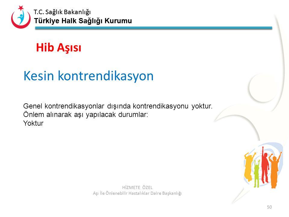 T.C. Sağlık Bakanlığı Türkiye Halk Sağlığı Kurumu T.C. Sağlık Bakanlığı Türkiye Halk Sağlığı Kurumu 50 HİZMETE ÖZEL Aşı İle Önlenebilir Hastalıklar Da